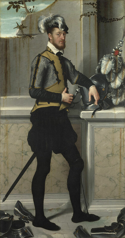 Giovanni_Battista_Moroni_-_A_Knight_with_his_Jousting_Helmet_-_Google_Art_Project.jpg