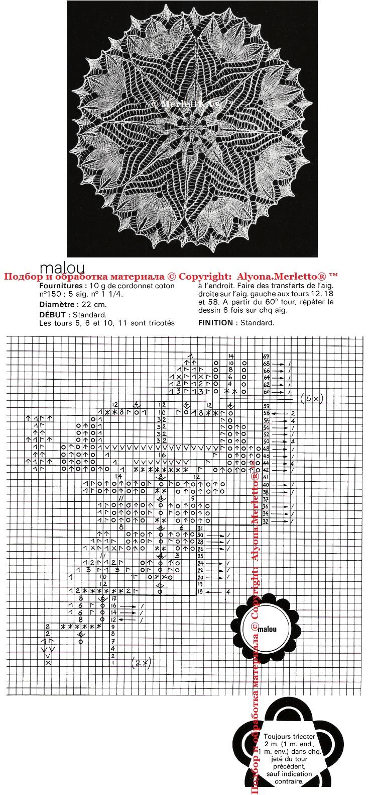 针织:9款非常养眼的餐巾(也是针织披肩最好的图解模式) - maomao - 我随心动