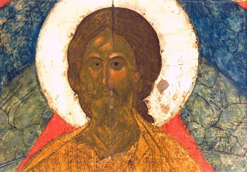Спас в Силах. Фрагмент иконы. Тверь, середина XV века.