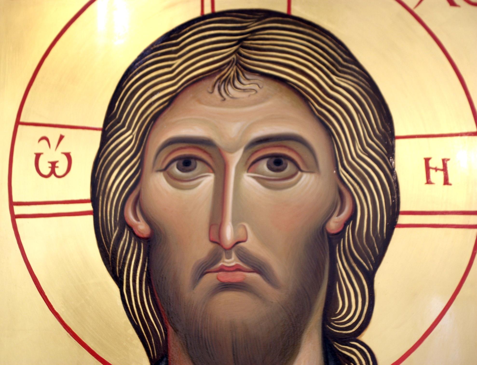 Христос Пантократор. Иконописец Наталия Пискунова. Фрагмент иконы.