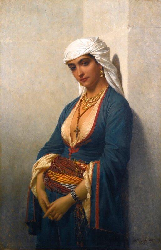 Арабская девушка с кофейным