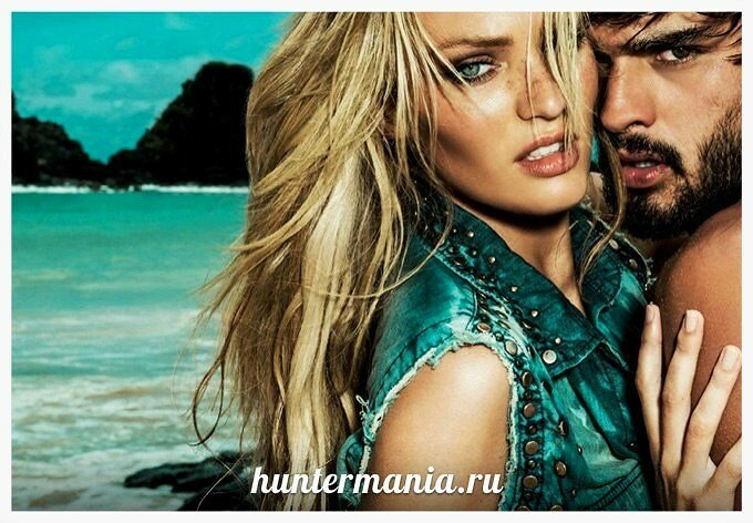 Модель Кэндис Свэйнпоул и Марлон Тейсейра в рекламе Osmoze Jeans