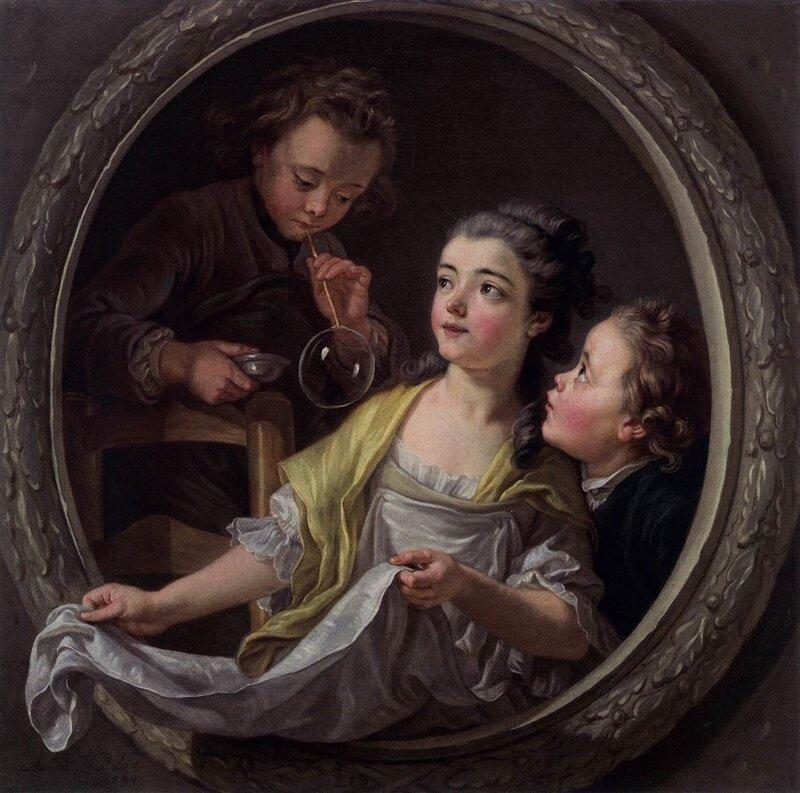 Charles Amédée Philippe Vanloo  Soap Bubbles, 1764