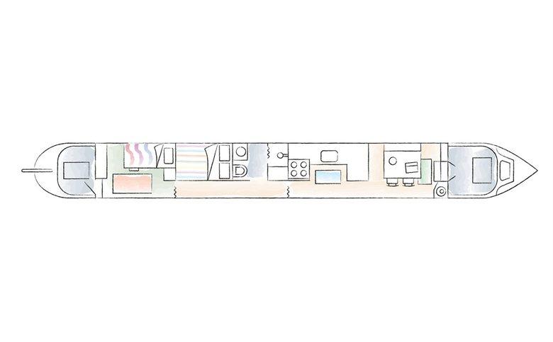 Жизнь в Лондоне на лодке: 26 метров на четверых