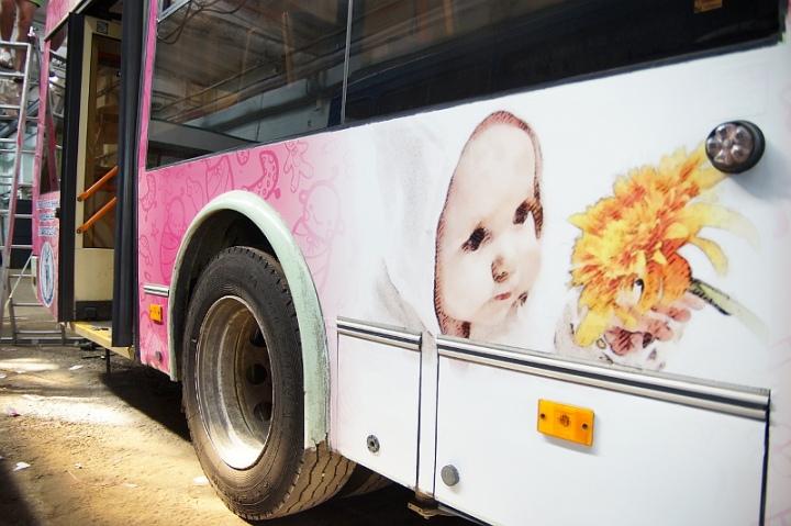 Противоабортный троллейбус лозунги нет абортам