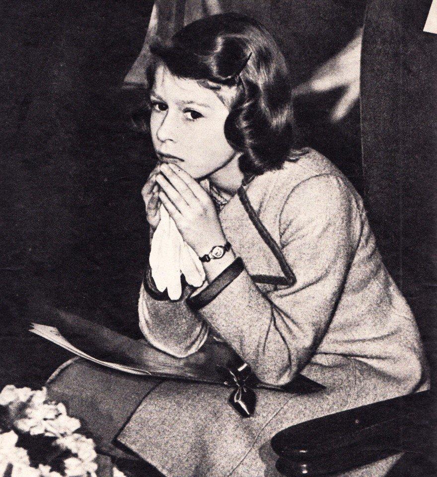 Елизавета II в молодости. 1930 г.