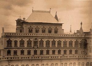 Вид верхней части здания Теремного дворца в Кремле. Москва г.