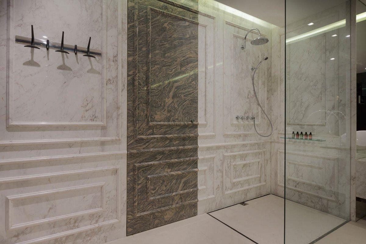 Blue Penthouse, пентхаус Blue Penthouse, пентхаус в Шанхае, двухэтажный пентхаус, двухэтажная квартира, пентхаус в Китае, Dariel Studio