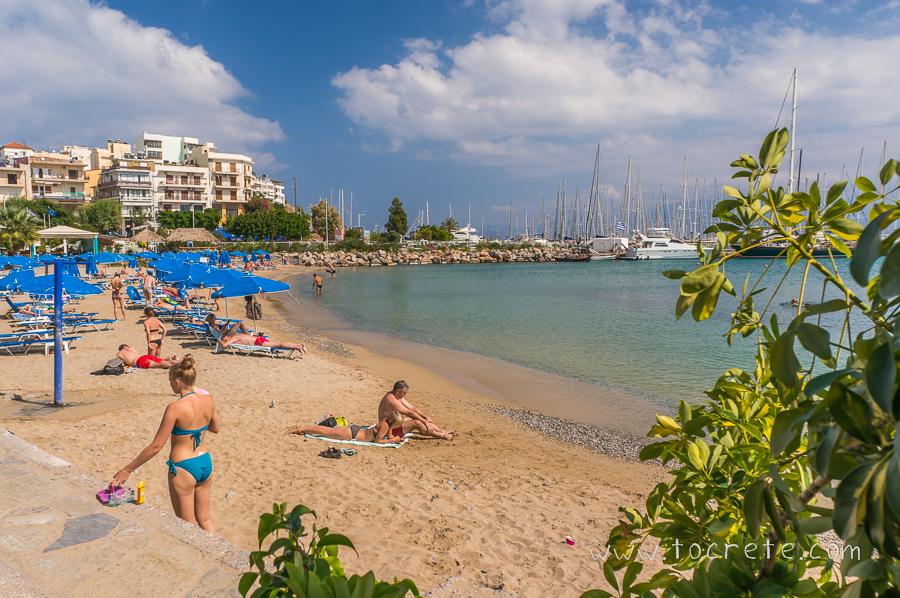 Пляж в Агиос Николаос | Beach in Agios Nikolaos