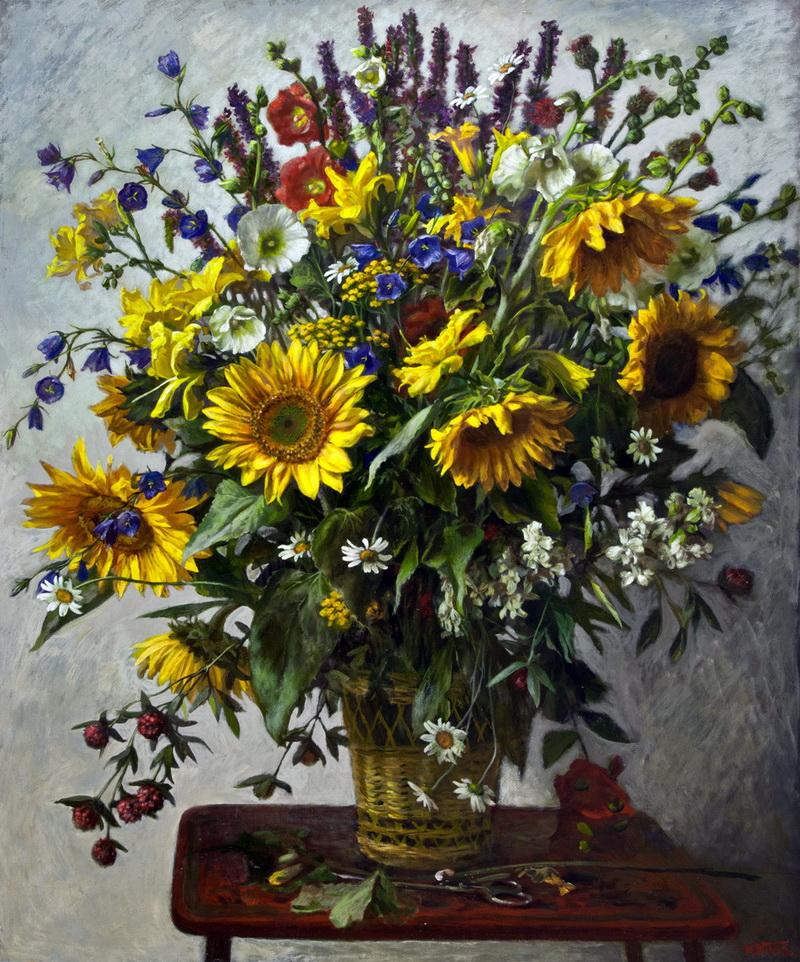 картинки полевые цветы и подсолнухи