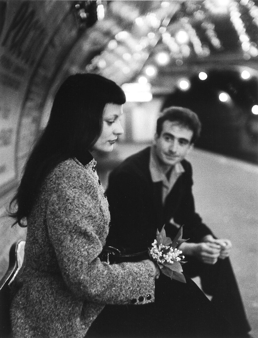 1953. Марк и Кристина Шевалье в парижском метро