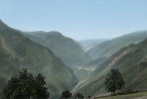 Вид долины реки Ингури