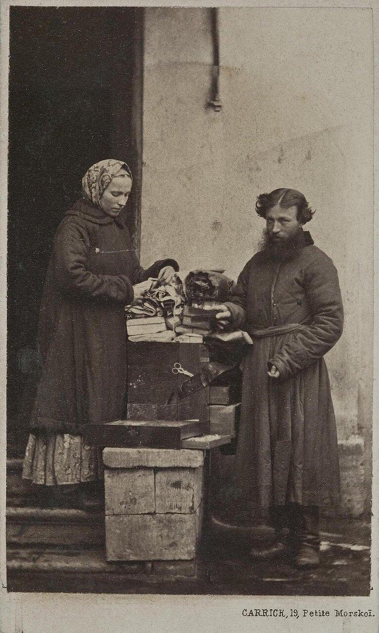 Уличные торговцы тканями
