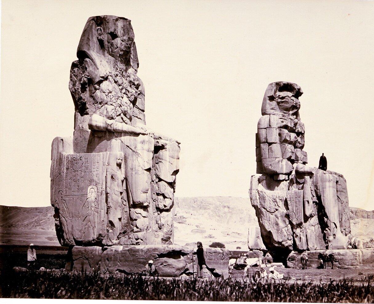 Фивы. Колоссы на равнине. 1858