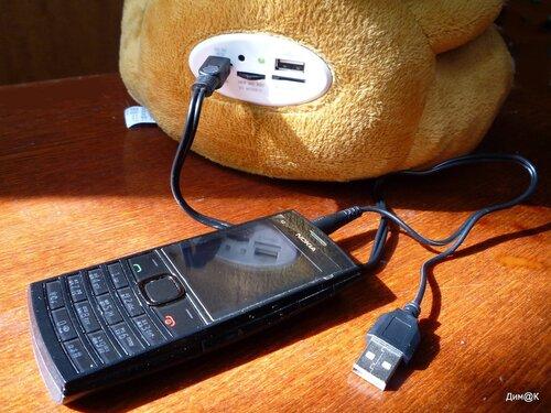 Texet TPA-3005 Winnie Bear (с подключенным телефоном)