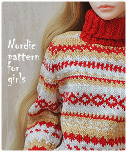 Nordic pattern sweater for Zaoll