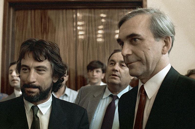 1987 Роберт Де Ниро, Эльдар Рязанов, Элем Климов на XV Международном кинофестивале