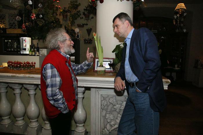 Михаил Прохоров и Алексей Венедиктов