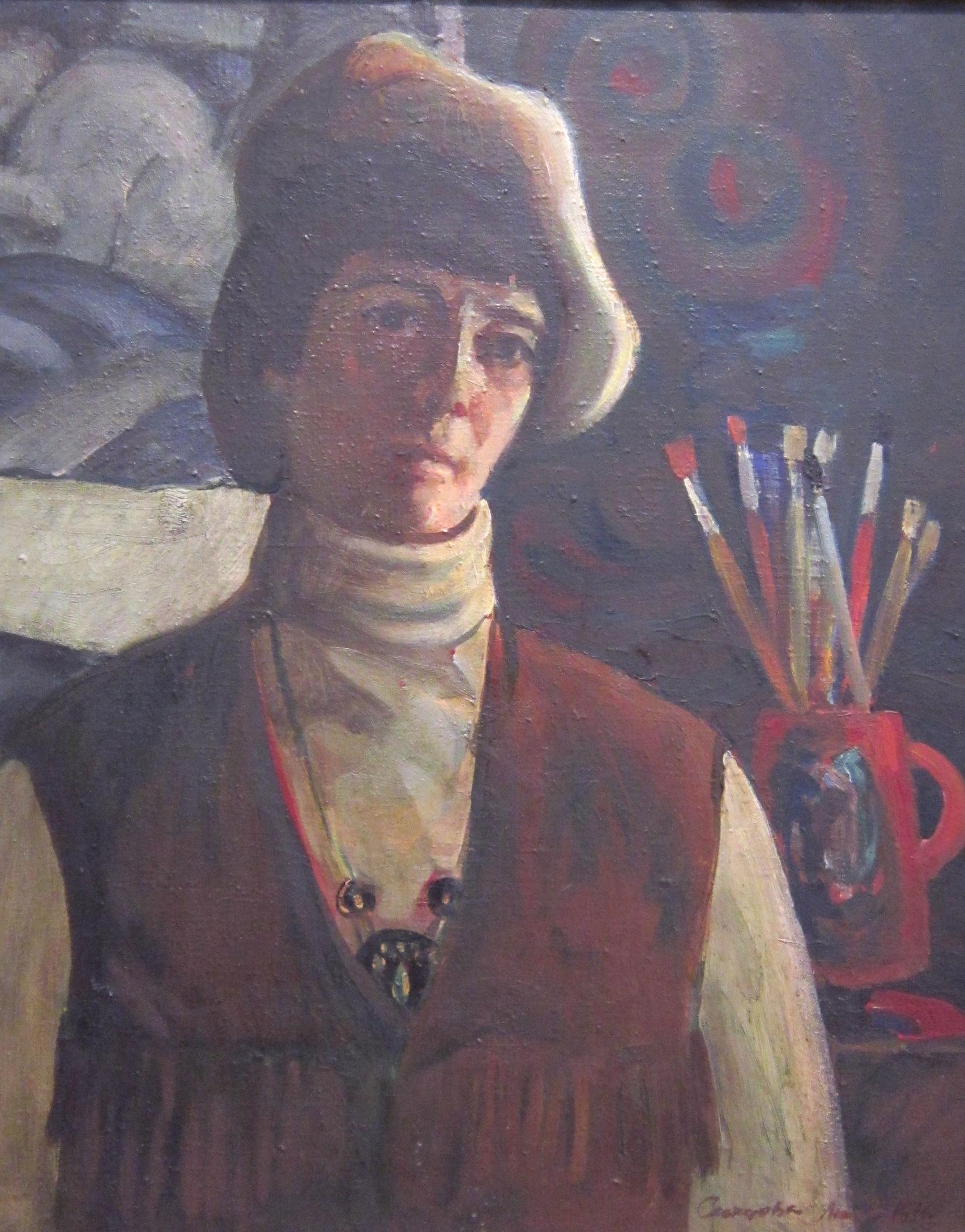 Людмила Савельевна Скопцова (1929-2005 гг.). Автопортрет. 1976 год.