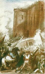 K.И.Рудаков. «Взятие Бастилии»