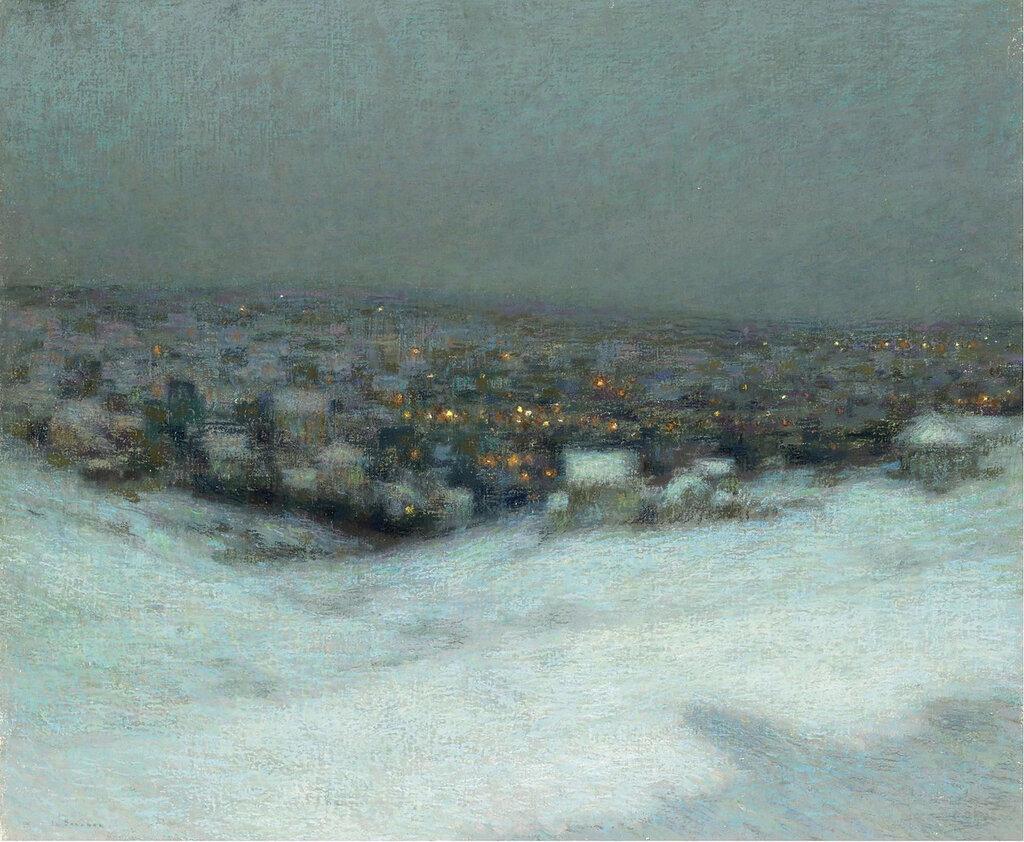 Henri Le Sidaner - Snow under the Moon, 1903.jpeg