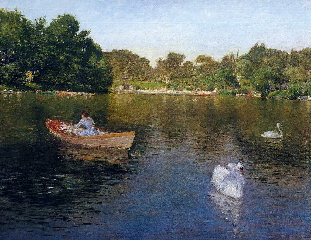 On the Lake, Central Park, 1890.jpeg