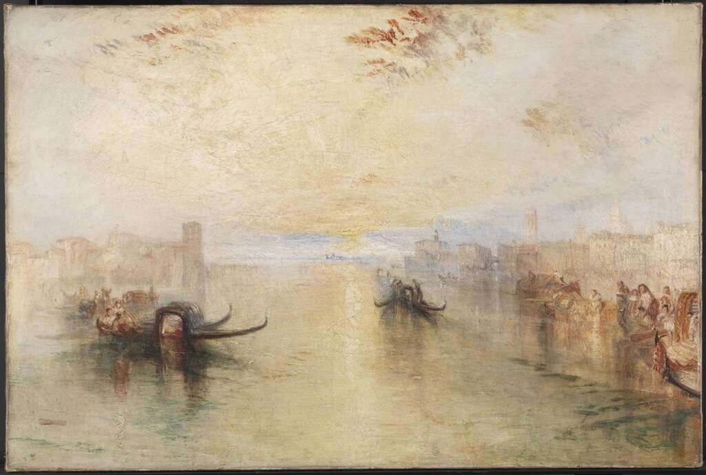 St Benedetto, Looking towards Fusina exhibited 1843 by Joseph Mallord William Turner 1775-1851