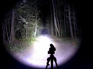 Подствольный охотничий фонарь - EagleTac T200C2 XM-L2 U2 светит так: Турбо режим, iso 200