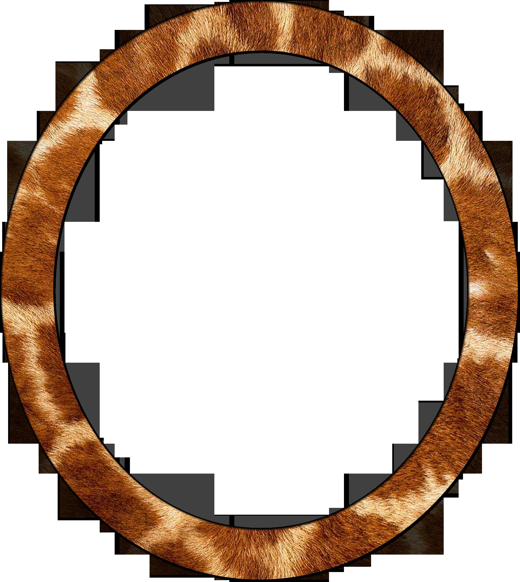 Рамка для фото круглая дерево