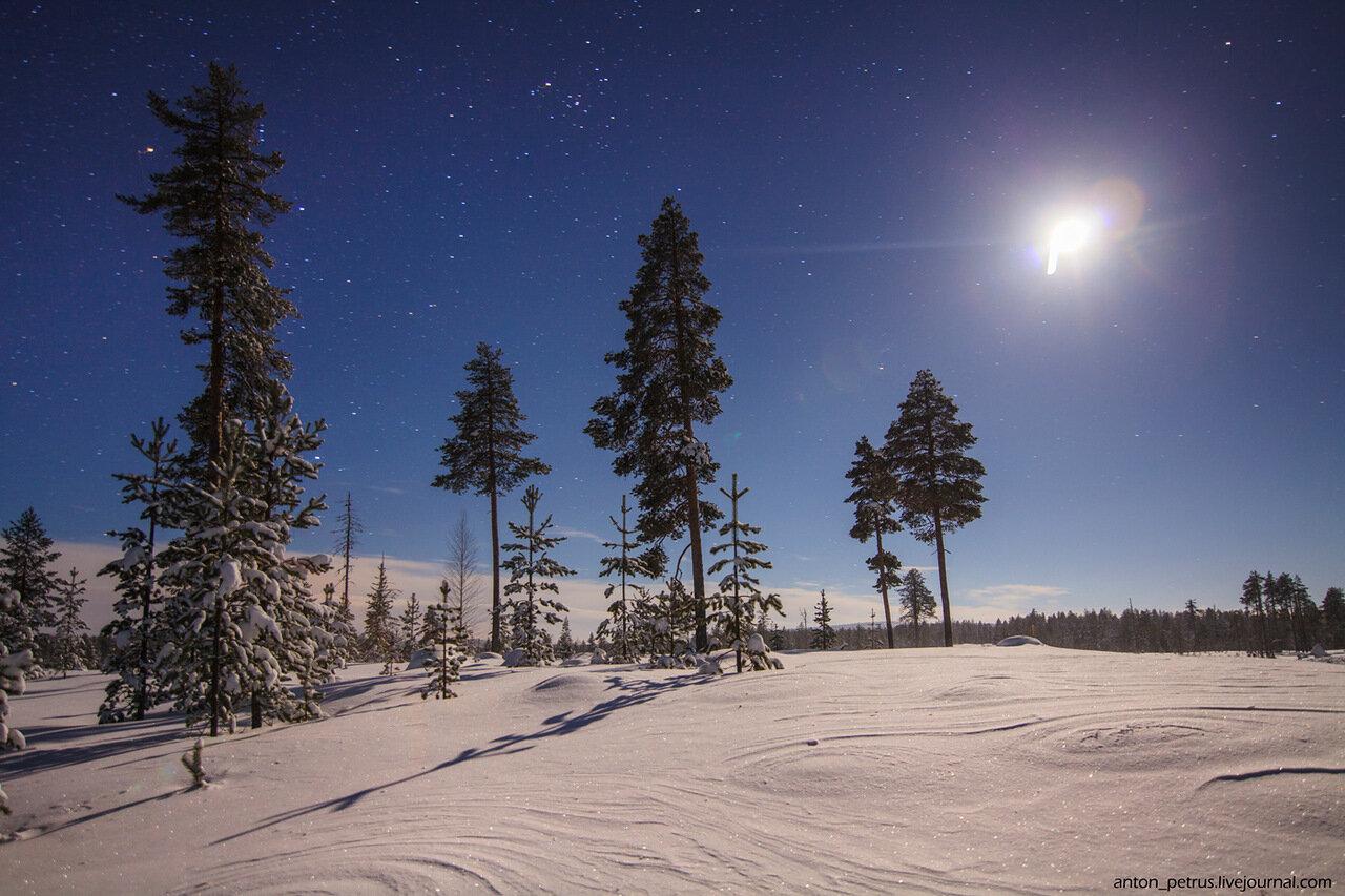 Финляндия. Северное сияние