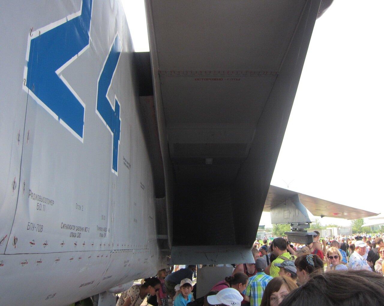 Огромный воздухозаборрник двигателя истребителя МиГ-31 (15.08.2014)