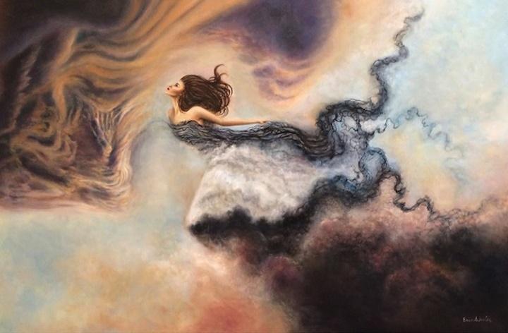 Фантастические девушки из снов на картинах Эрики Векслер