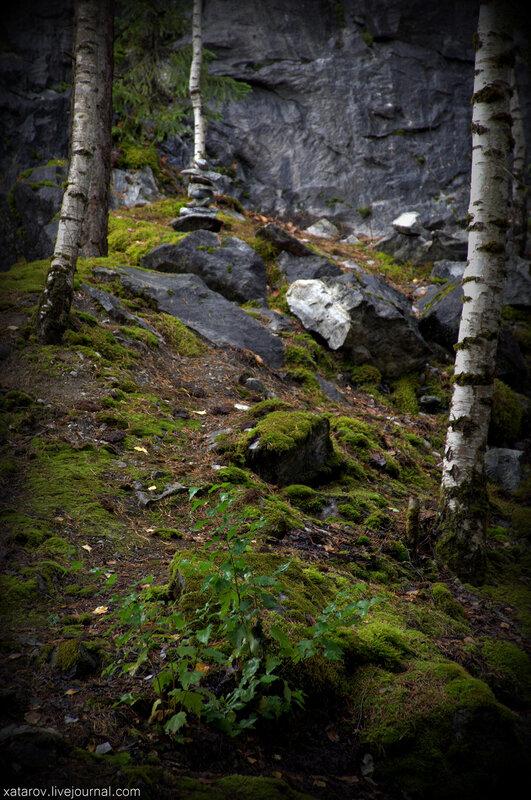 Мраморный карьер Рускеала в Карелии