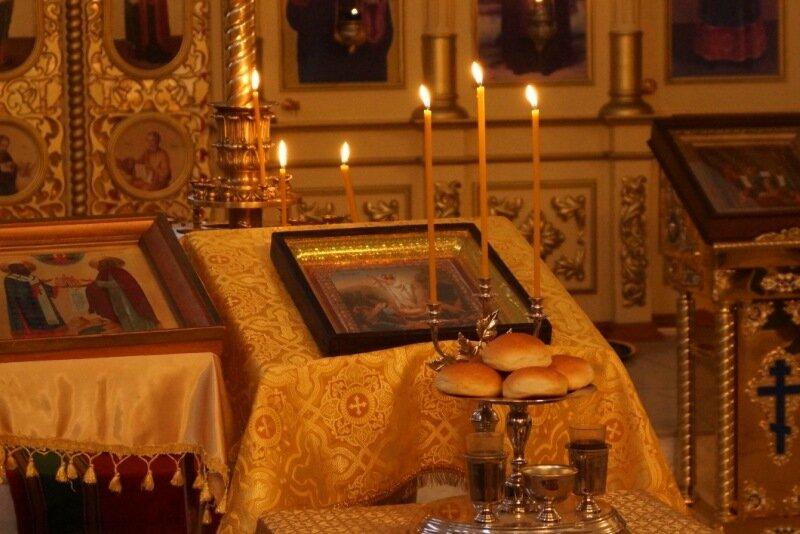 Всенощное бдение в Иверском храме 18.10.2014