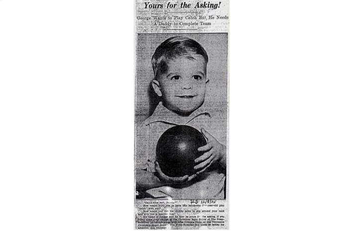 """Одна из типичных реклам Джорджии Танн, 1935 год. «""""Ваш по запросу!"""" Джордж хочет играть,"""
