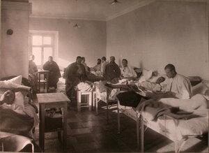 Раненые в палате лазарета имени князя А .А.Щербатова.