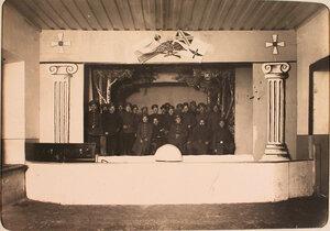 Нижние чины авиароты - участники спектакля, 26 ноября прошедшего на сцене.