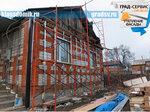 Монтаж фасада Ханьи, усадьба в Камень-Рыболове