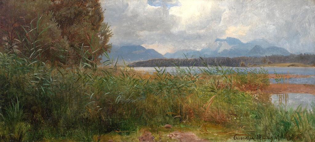 Hans Gude - Sivstudie, Chiemsee (1867)..jpg
