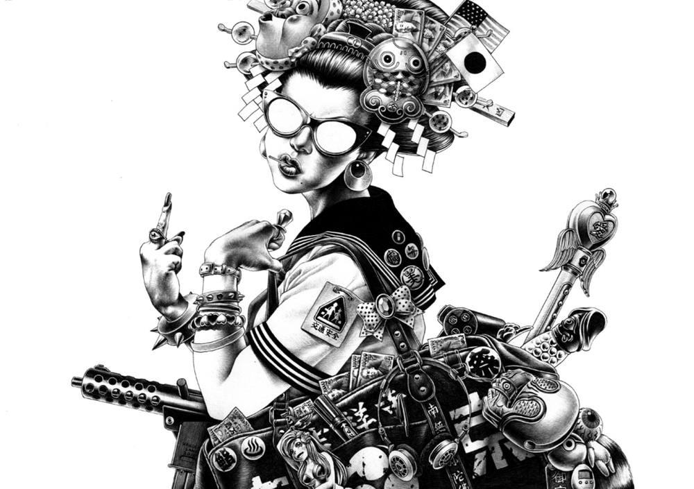 Сумасшедшие рисунки японского художника Shohei Otomo (23)