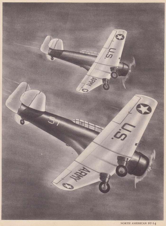 North American BT-14 - учебно-тренировочные самолеты