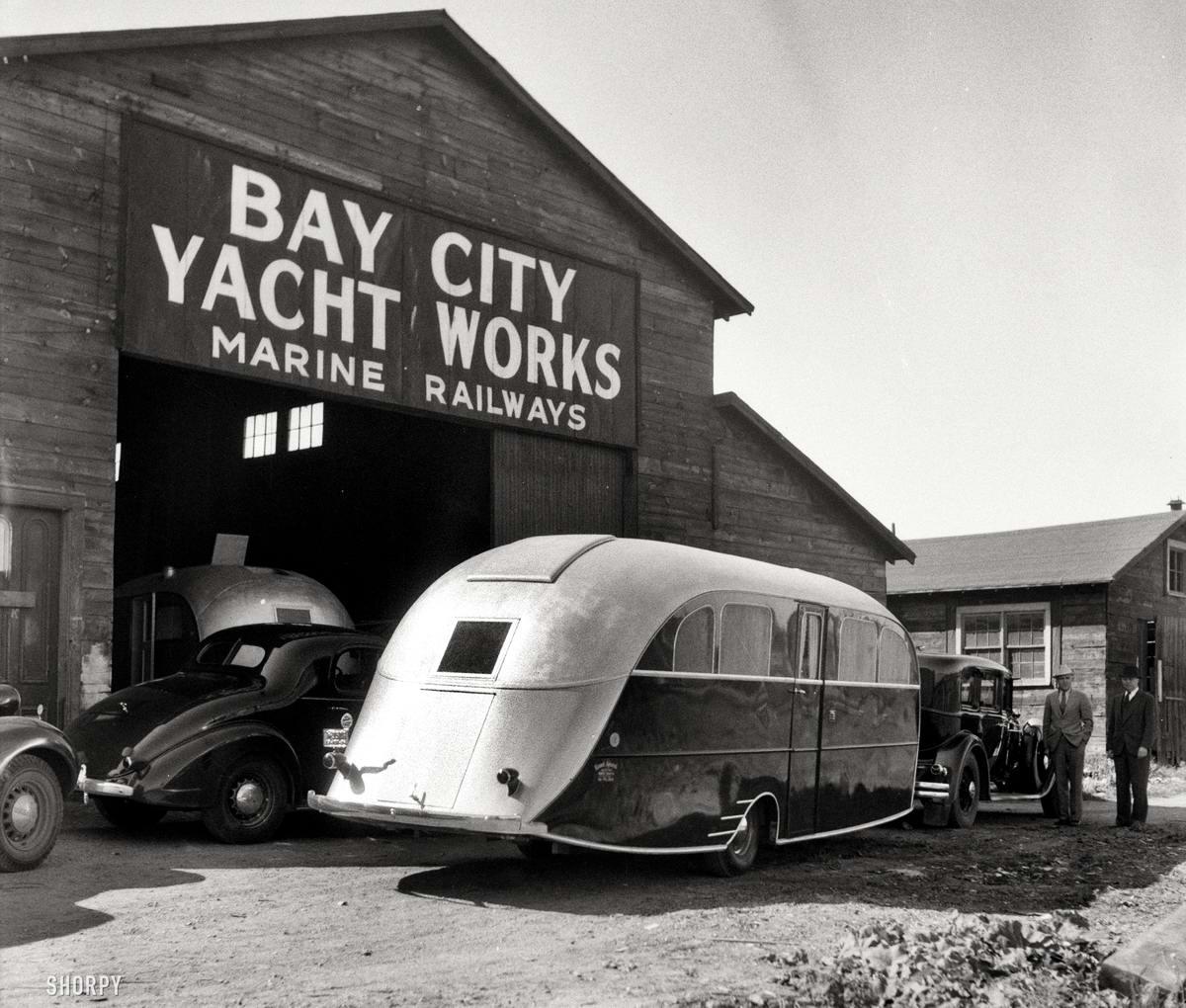 Люксовый автоприцеп-дача (Мичиган, 1936 год)