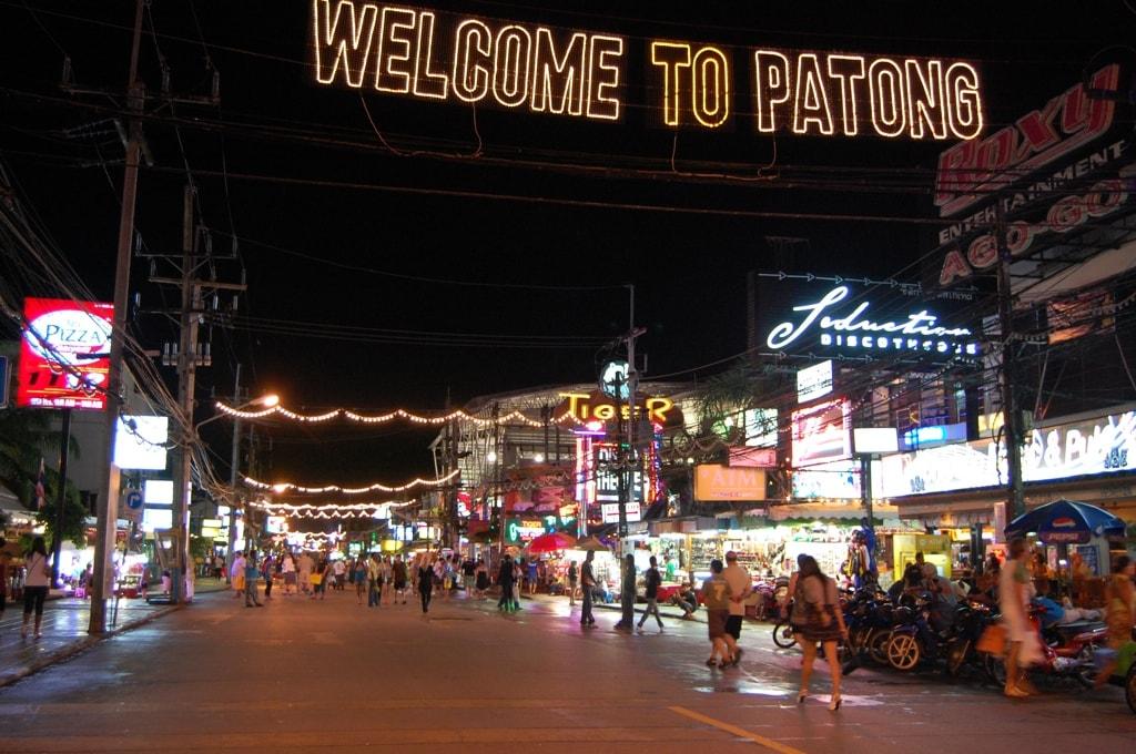 Главная барная и дискотечная улица Пхукета