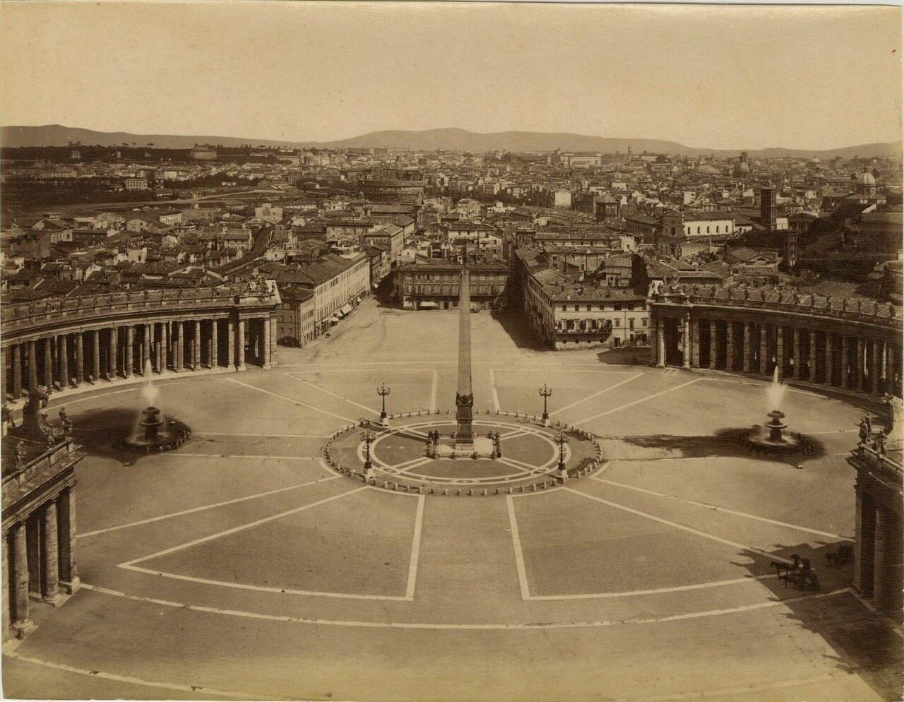 Площадь Святого Петра Ватикан. 1870.