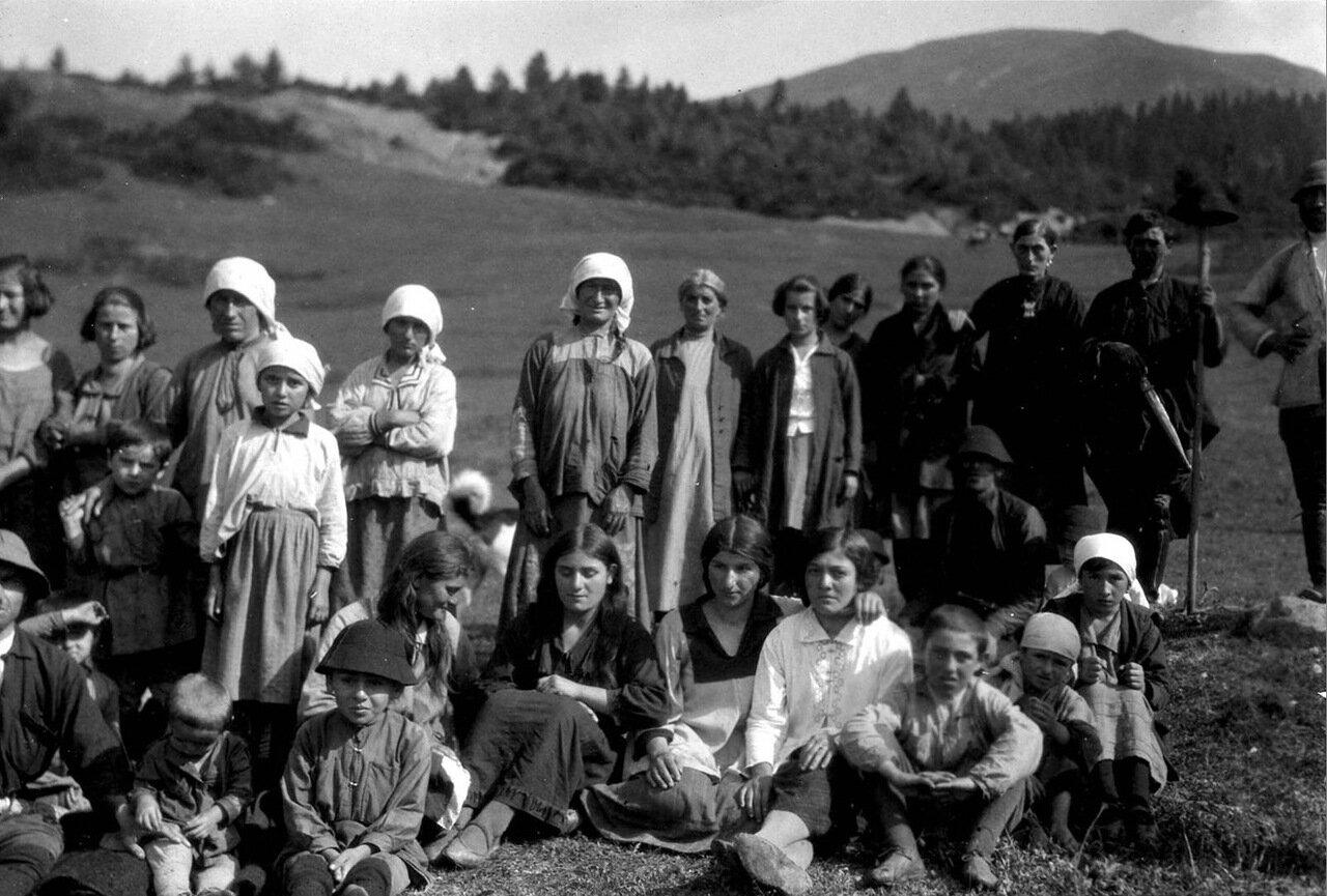Сванетские крестьяне