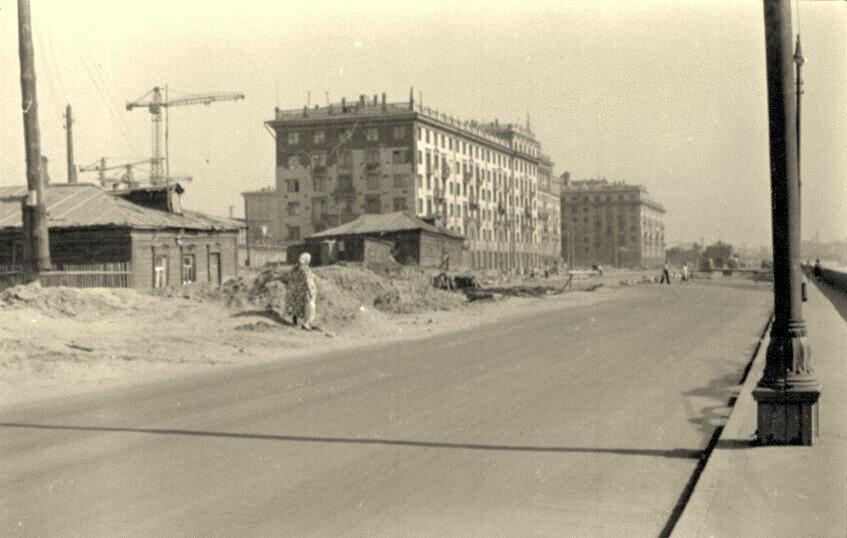 1955. Фрунзенская набережная в районе 2-й Фрунзенской