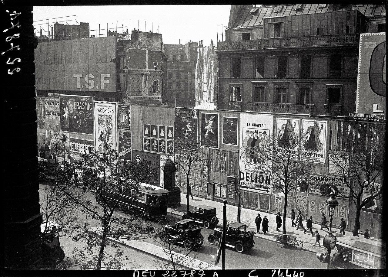1925. Снос зданий на Итальянском бульваре с целью расширения бульвара Османа