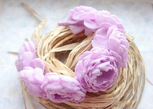 Ободки с цветами из шифона