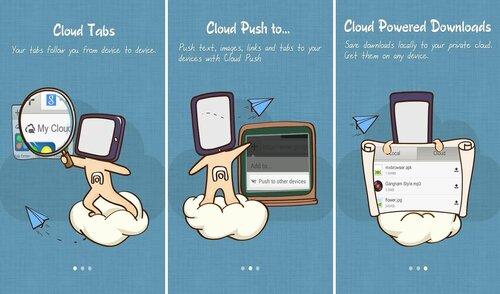 """Вкладки в """"облаке"""", синхронизация устройств и загрузка в """"облако"""""""
