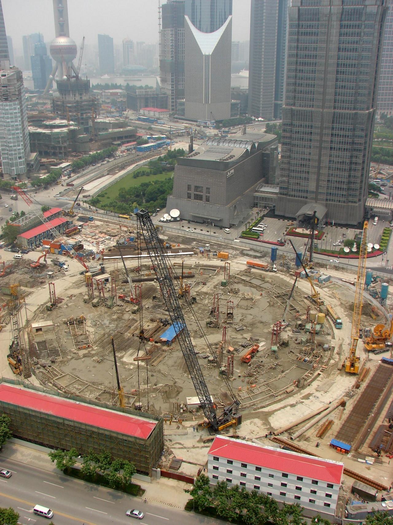 Шанхай небоскребы